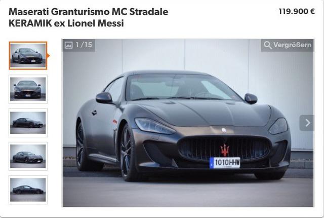 Maserati GranTurismo MC Stradale của Lionel Messi bị hét giá trên thị trường xe cũ - Ảnh 1.