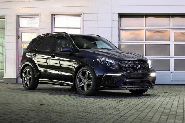 Mercedes-Benz GLE 2016 với nội thất bọc da cá sấu và mạ vàng của người Nga - Ảnh 1.