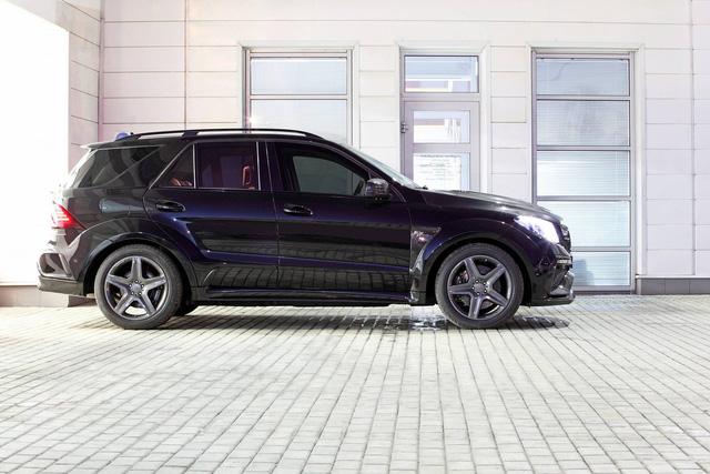 Mercedes-Benz GLE 2016 với nội thất bọc da cá sấu và mạ vàng của người Nga - Ảnh 4.