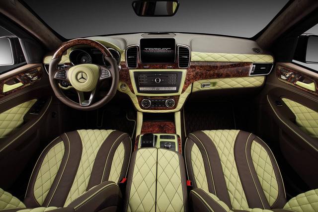 Mercedes-Benz GLE 2016 với nội thất bọc da cá sấu và mạ vàng của người Nga - Ảnh 5.