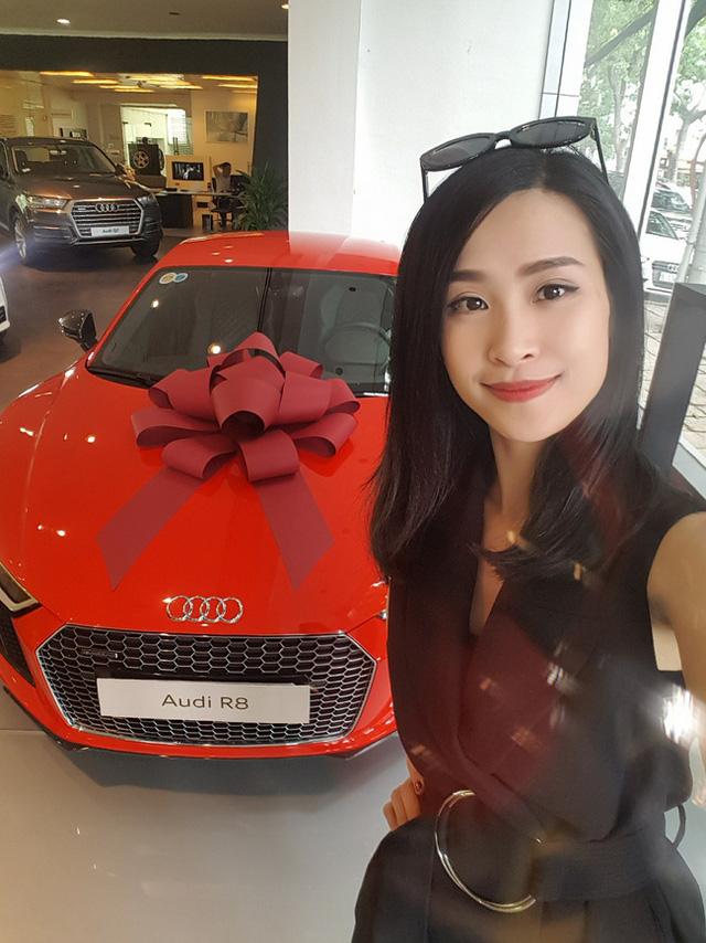 Đông Nhi - Ông Cao Thắng mua siêu xe Audi R8 V10 Plus 2016 chơi Tết - Ảnh 1.