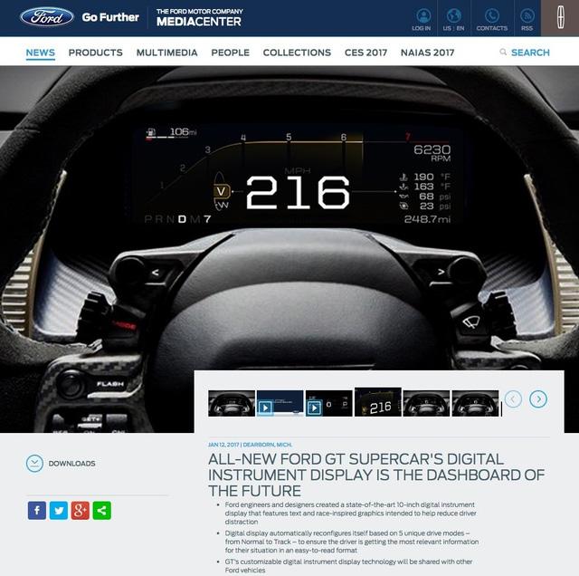 Tốc độ tối đa của siêu xe Ford GT 2017 có thể gây thất vọng - Ảnh 1.