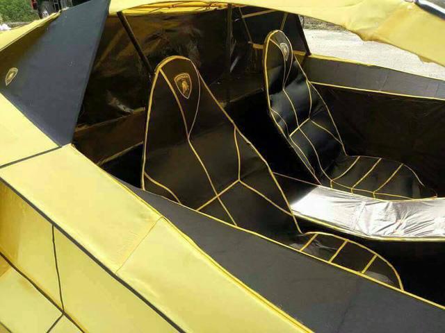 Lamborghini Aventador phiên bản vàng mã dùng để đốt trong ngày Tiết Thanh minh - Ảnh 2.