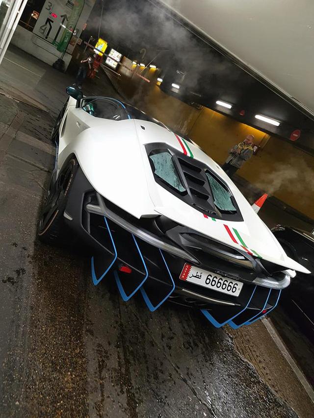 Tóm gọn siêu xe Lamborghini Centenario màu trắng nhám của Hoàng gia Qatar - Ảnh 3.