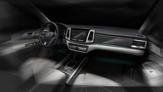 SsangYong hé lộ hình ảnh của mẫu SUV đầu bảng sắp ra mắt - Ảnh 1.