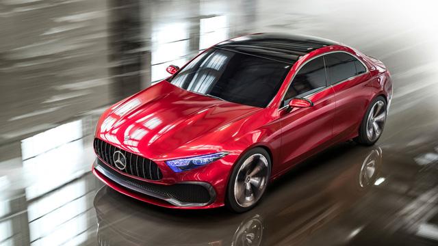 Xem trước thiết kế của xe sang giá mềm Mercedes-Benz A-Class Sedan - Ảnh 1.