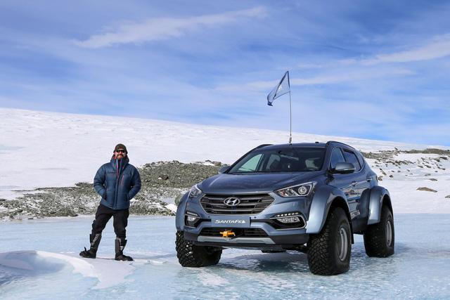 Đây là chiếc Hyundai Santa Fe đầu tiên vượt qua châu Nam Cực - Ảnh 1.