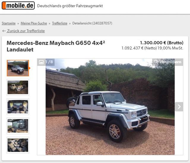 SUV siêu sang Mercedes-Maybach G650 Landaulet bị làm giá đến 32,1 tỷ Đồng - Ảnh 1.