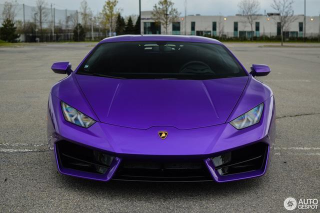 Diện kiến Lamborghini Huracan màu tím nổi bần bật - Ảnh 1.