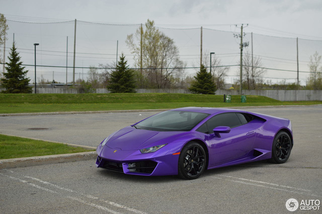 Diện kiến Lamborghini Huracan màu tím nổi bần bật - Ảnh 7.