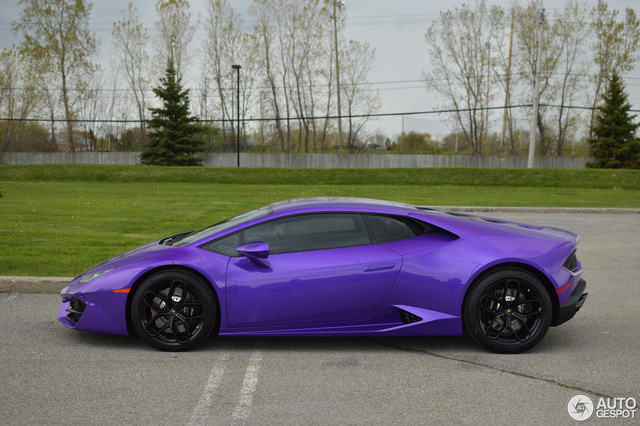 Diện kiến Lamborghini Huracan màu tím nổi bần bật - Ảnh 5.