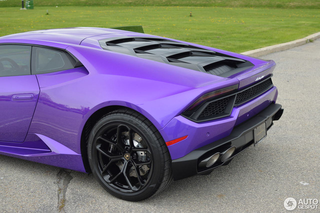 Diện kiến Lamborghini Huracan màu tím nổi bần bật - Ảnh 6.