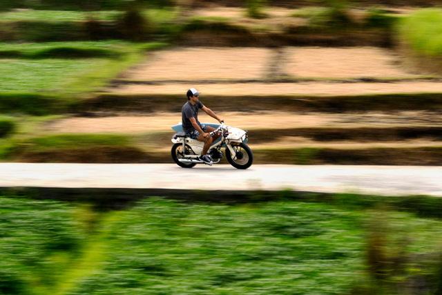 Làm quen với chiếc Honda Super Cub độ với cảm hứng từ xe đạp - Ảnh 2.