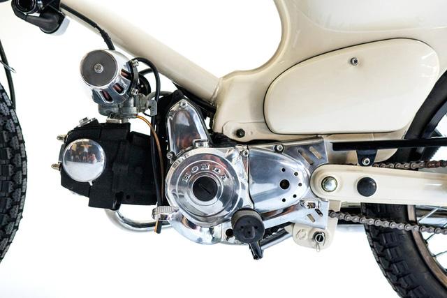 Làm quen với chiếc Honda Super Cub độ với cảm hứng từ xe đạp - Ảnh 4.