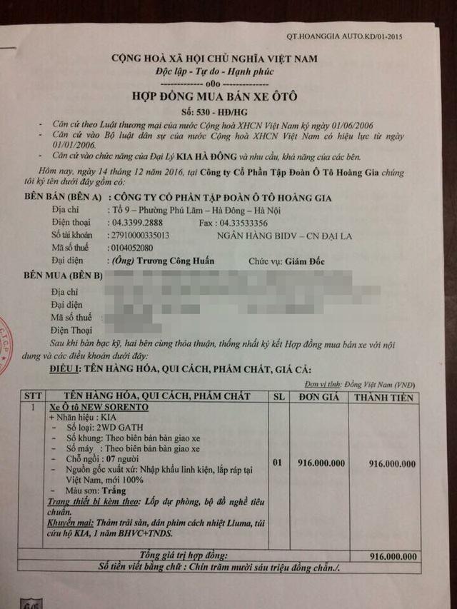 KIA Hà Đông bị khách hàng tố nhận tiền nhưng không giao xe - Ảnh 3.