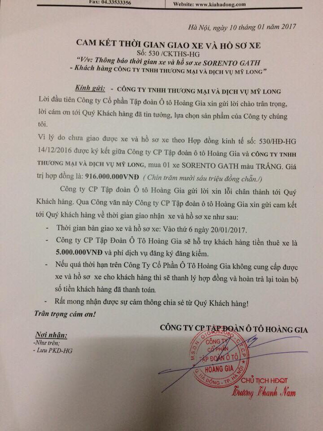 KIA Hà Đông bị khách hàng tố nhận tiền nhưng không giao xe - Ảnh 4.