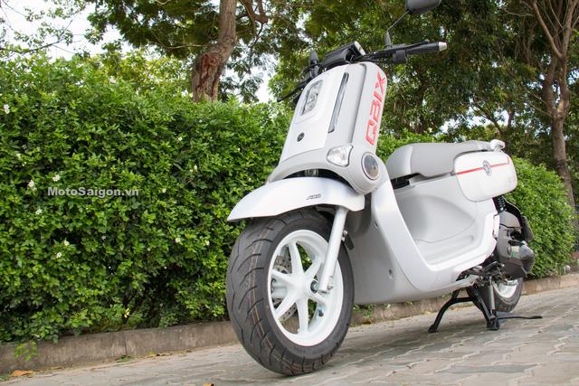 Cận cảnh xe ga kiểu dáng lạ Yamaha QBIX 125 ABS tại Việt Nam - Ảnh 1.