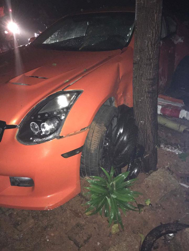 Infiniti G35 độ cửa cắt kéo Lamborghini gặp tai nạn tại Bà Rịa-Vũng Tàu - Ảnh 1.