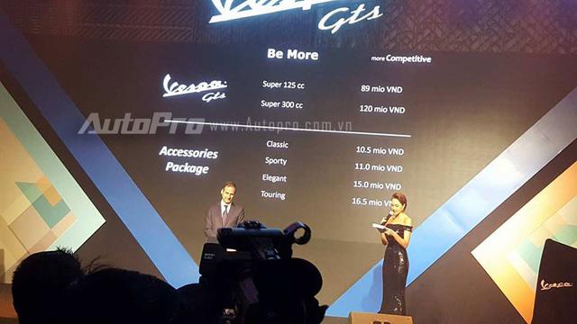 Vespa GTS 300 được chốt giá 120 triệu Đồng tại Việt Nam, rẻ hơn một nửa so với Honda SH300i - Ảnh 2.