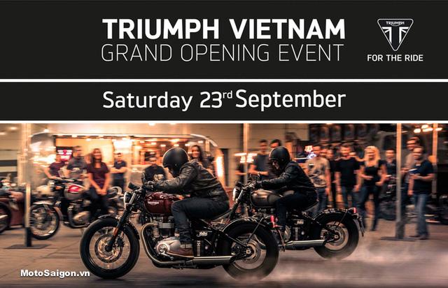 Hãng mô tô Anh quốc Triumph sẽ khai trương showroom đầu tiên tại Việt Nam trong tháng 9 này - Ảnh 1.