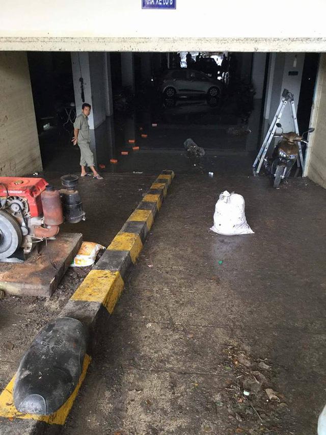 Mưa lớn kéo dài tại Bà Rịa - Vũng Tàu khiến hàng loạt ô tô chết đuối trong hầm chung cư - Ảnh 3.