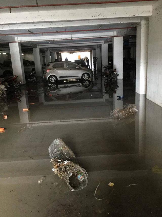 Mưa lớn kéo dài tại Bà Rịa - Vũng Tàu khiến hàng loạt ô tô chết đuối trong hầm chung cư - Ảnh 7.
