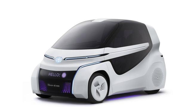 Toyota Concept-i Ride - Xe nhỏ nhất thế giới được trang bị cửa cánh chim - Ảnh 1.