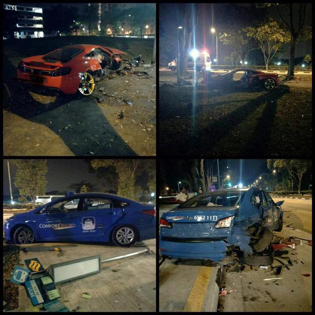 Hiện trường rùng mình của vụ tai nạn giữa siêu xe McLaren 12C và taxi - Ảnh 5.