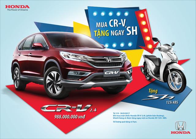 Honda Khuyến mãi mua Honda CR-V được tặng Honda SH125i ABS