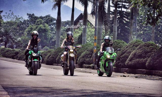 Gặp gỡ bộ ba nữ biker xinh đẹp đất Hà Thành - Ảnh 5.