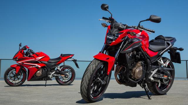 Cặp đôi mô tô tầm trung Honda CBR500R và CB500F 2017 ra mắt Đông Nam Á