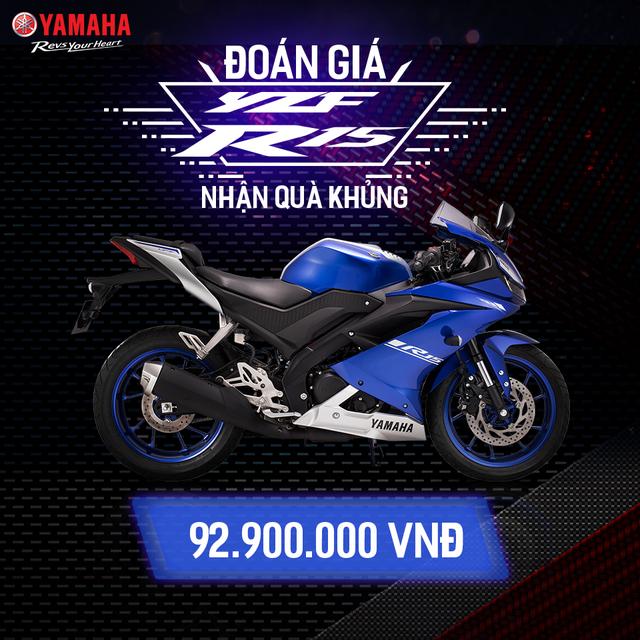 Yamaha R15 chốt giá bán chính hãng 92,9 triệu đồng - Ảnh 1.