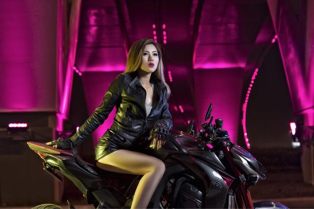 Nữ biker Việt cá tính bên Kawasaki Z1000 - Ảnh 5.
