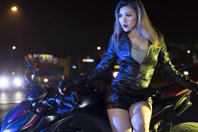 Nữ biker Việt cá tính bên Kawasaki Z1000 - Ảnh 7.