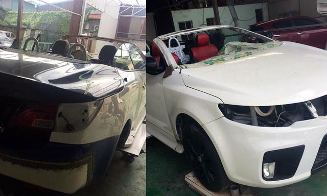 Thợ Việt độ Kia Cerato thành xe sang mui trần Lexus IS 250C - Ảnh 2.