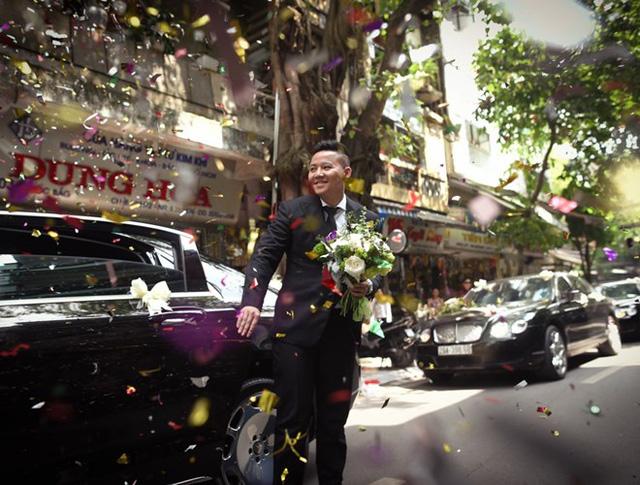 Thiếu gia 9X Hà thành rước dâu bằng dàn xe siêu sang khủng - Ảnh 1.