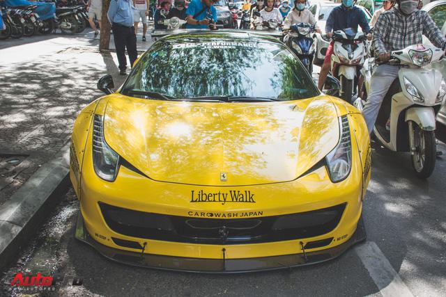 Ferrari 458 Liberty Walk độc nhất Việt Nam trở về màu nguyên bản - Ảnh 3.