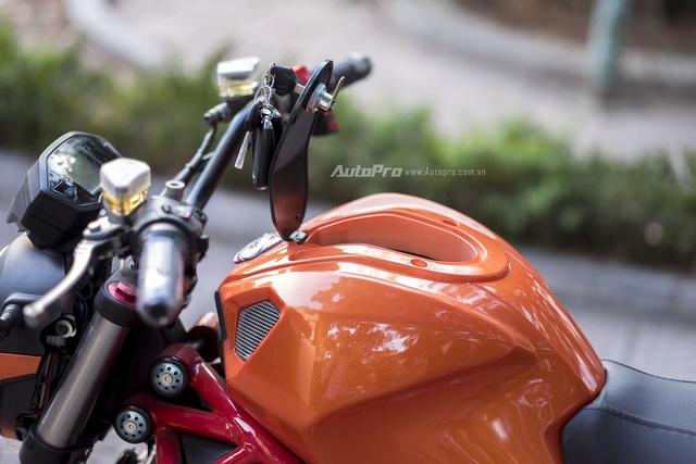 Cận cảnh xe điện mang kiểu dáng Ducati Monster, giá 25 triệu Đồng tại Hà Nội - Ảnh 10.