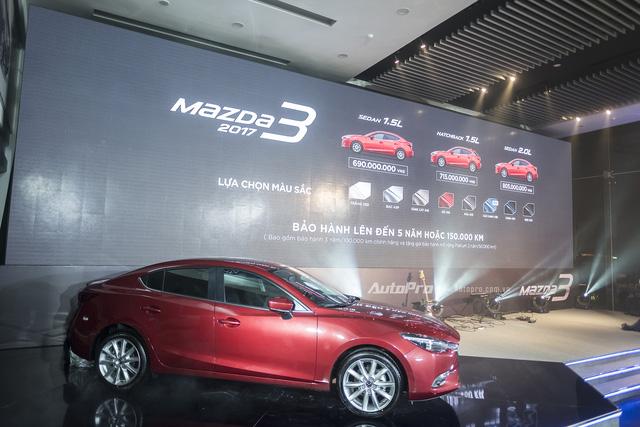 Mazda3 2017 chính thức ra mắt, giá từ 690 triệu Đồng - Ảnh 1.