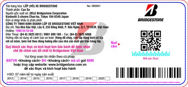 Cách phân biệt lốp Bridgestone thật và lốp ngoài luồng - Ảnh 1.