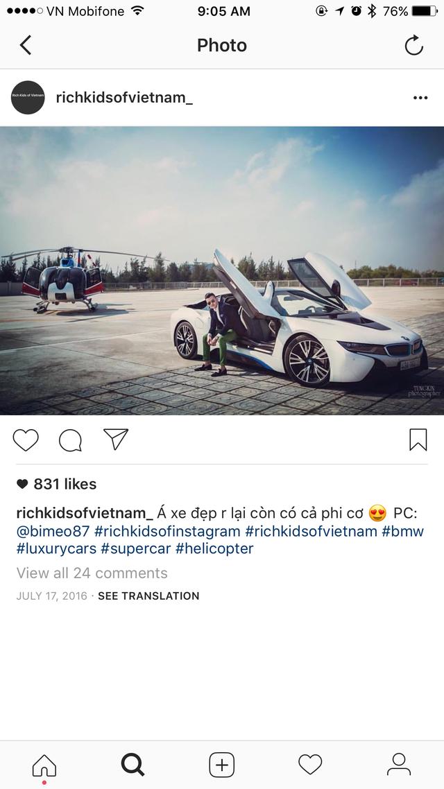 Xem giới trẻ Việt khoe siêu xe, xe siêu sang trên Instagram - Ảnh 1.