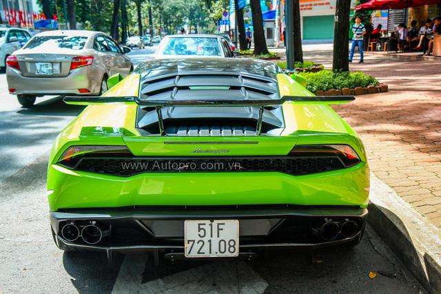 Siêu xe Lamborghini Huracan xanh cốm của đại gia kín tiếng Sài thành độ khủng - Ảnh 21.