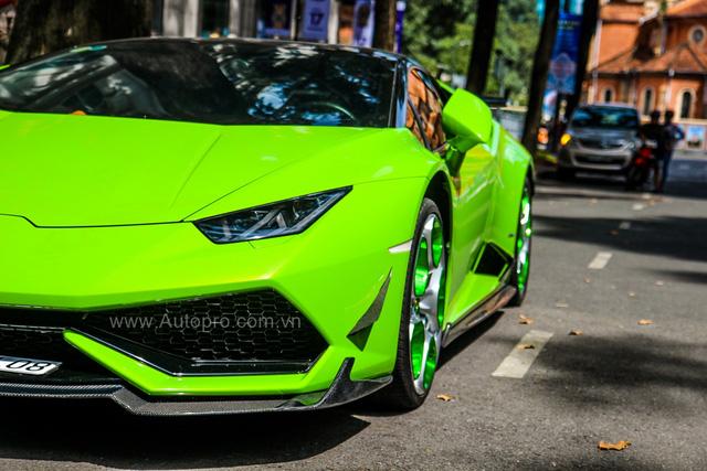 Siêu xe Lamborghini Huracan xanh cốm của đại gia kín tiếng Sài thành độ khủng - Ảnh 16.