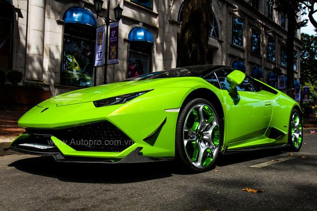 Siêu xe Lamborghini Huracan xanh cốm của đại gia kín tiếng Sài thành độ khủng - Ảnh 4.