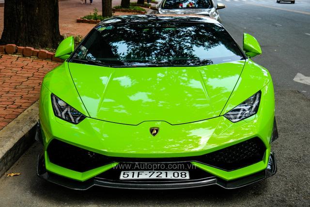 Siêu xe Lamborghini Huracan xanh cốm của đại gia kín tiếng Sài thành độ khủng - Ảnh 3.