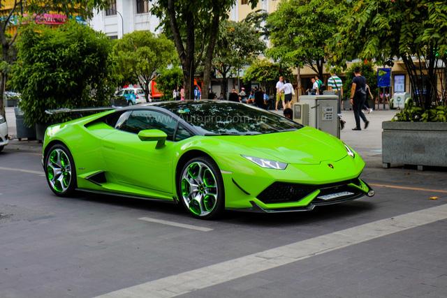 Siêu xe Lamborghini Huracan xanh cốm của đại gia kín tiếng Sài thành độ khủng - Ảnh 20.