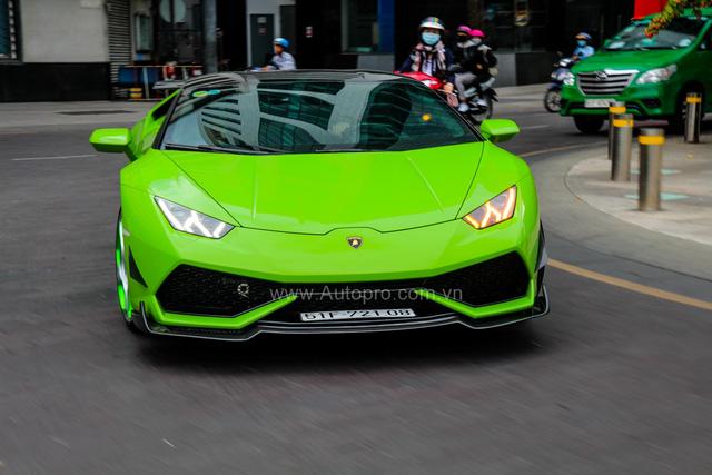 Lamborghini Huracan xanh cốm của đại gia kín tiếng quận 2 tiếp tục được độ khủng - Ảnh 5.