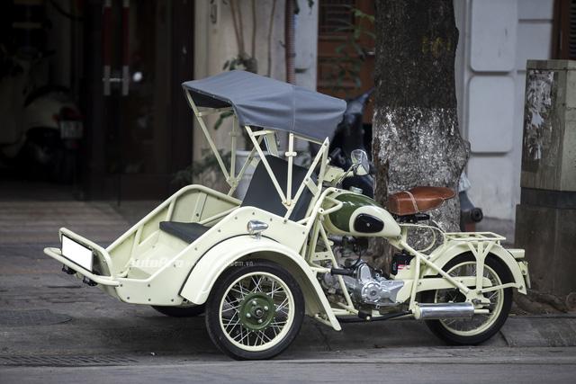 Bắt gặp đồ cổ xích lô máy Peugeot trên đường phố Hà Nội - Ảnh 10.