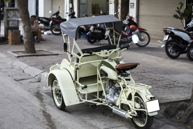 Bắt gặp đồ cổ xích lô máy Peugeot trên đường phố Hà Nội - Ảnh 11.