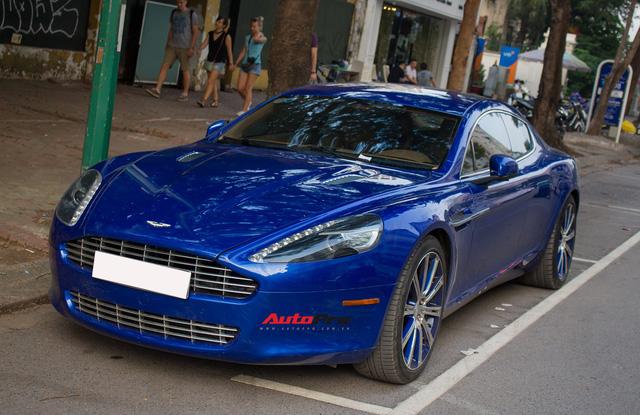 Hàng hiếm Aston Martin Rapide đổi màu tại Hà Nội - Ảnh 1.